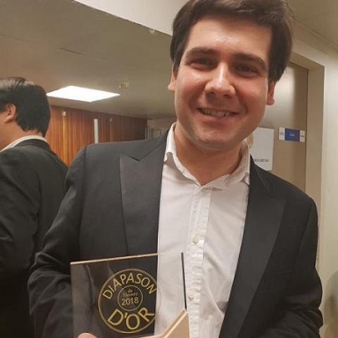 Vadym Kholodenko with 2018 Diapason D'Or award